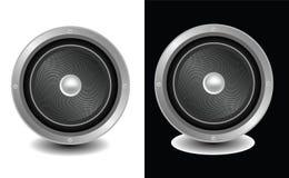 дикторы изолированные чернотой белые Стоковая Фотография RF