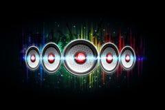 диктор предпосылки громкий музыкальный Стоковые Изображения RF