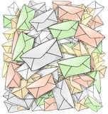 Динамический шарж почты Стоковые Изображения