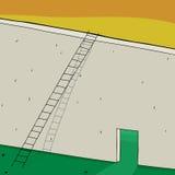 Длинные лестница и вход Стоковые Фотографии RF
