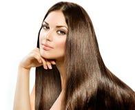 Длинные прямые волосы Стоковые Фотографии RF