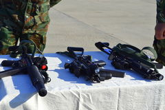 Дисплей снайперских винтовок военновоздушных сил Стоковые Изображения