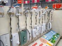 Дисплей oin блоков ливня в магазине. Стоковое фото RF