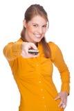 дистанционная женщина Стоковые Изображения RF