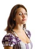 длиннее девушки брюнет с волосами Стоковое Изображение