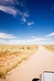 длинняя дорога nowhere прямо к Стоковое Фото