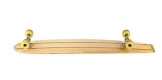 дно доски вниз катается на коньках внешняя сторона деревянная Стоковое Изображение RF
