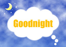 Доброй ночи концепция Стоковые Изображения
