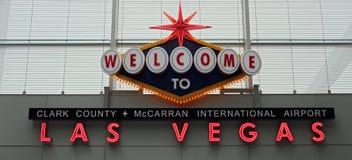 Добро пожаловать к Лас-Вегас Стоковое Изображение