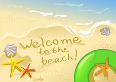 Добро пожаловать к пляжу Стоковая Фотография RF