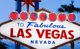 Добро пожаловать к фантастичному знаку Лас-Вегас Стоковое Изображение RF