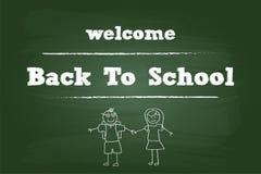 Добро пожаловать назад к ребеятам школьного возраста Стоковое Изображение RF