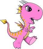Довольно розовый дракон Стоковая Фотография RF
