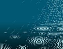 дождь ночи Стоковая Фотография RF