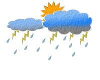 дождь облака бумажный Стоковая Фотография RF