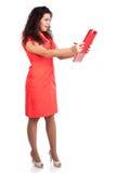 доктор получая женщину нюни весточки потревожился Стоковая Фотография