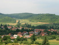долина деревушки Стоковое Фото