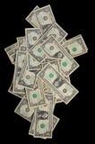 доллары вниз падая Стоковое Изображение RF