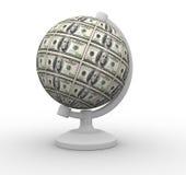 доллары глобуса Стоковое фото RF