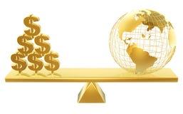 доллары мира цены Стоковое Изображение