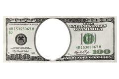 доллары обрамляют 100 одних Стоковые Изображения