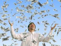 доллары падать Стоковое Изображение