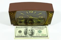 доллары часов Стоковое Изображение RF
