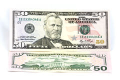 доллары 50 кредитки Стоковые Фото