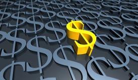 доллар золотистый Стоковое Изображение