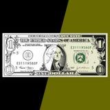 доллар одно счета предпосылки Стоковое Изображение
