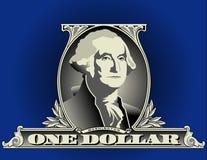 доллар одно детали счета Стоковое Изображение RF