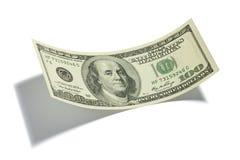 доллар 100 счета изолировал одно Стоковое Фото