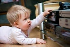 домашнее видео младенца Стоковые Изображения