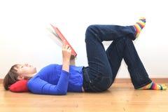 домашнее чтение Стоковое Изображение RF