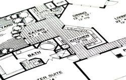 домашние планы Стоковое Изображение
