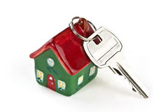 домашний ключ новый к Стоковая Фотография