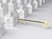 домашний ключ новый к Стоковые Фото