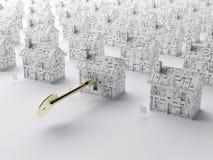 домашний ключ новый к Стоковое Изображение