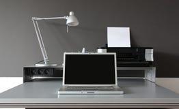 домашний офис frontal стола Стоковая Фотография