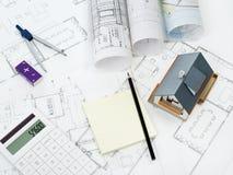 Домашний план - изображение запаса Стоковое Изображение