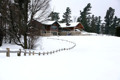 домашняя зима сезона Стоковые Изображения RF