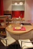 домашняя кухня интерьеров новая Стоковая Фотография RF