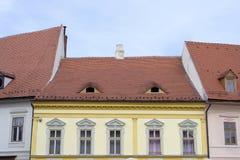Дома в Сибиу, Румынии Стоковое Фото