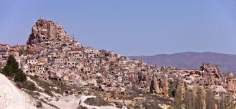 Дома горного склона в Cappadocia Турции Стоковое Изображение RF