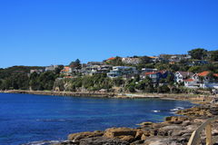 Дома мужественного пляжа Австралии Стоковое Изображение RF