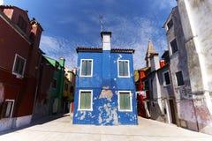 дома burano цветастые Стоковая Фотография
