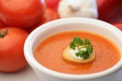 домодельный томат супа Стоковые Фотографии RF