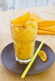 Домодельное оранжевое Granita Стоковые Изображения
