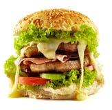 Домодельный бургер стейка Стоковое Фото