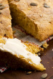 Домодельный хлеб тыквы Стоковое Изображение RF